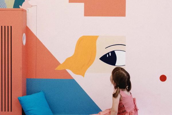 Fresque interactive avec l'enfant